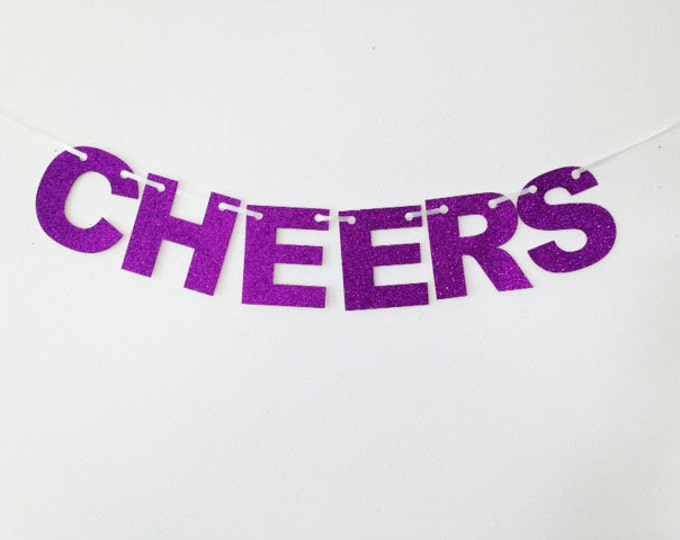 Cheers  Banner, Cheers and Beers Banner, Bachelorette Party, Wedding Garland, Bridal Shower, Glitter Decoration, Holiday Banner