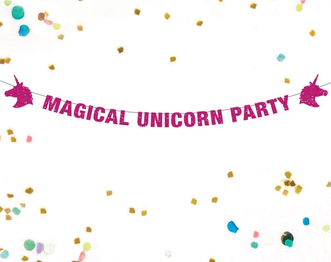 Unicorn Banner, Unicorn Party Decorations, Magical Unicorn Party Banner, Unicorn Banner, Unicorn Party, Magical Unicorn Party Decor