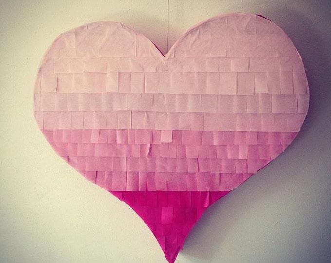 Piñata Ombre Heart Piñata Heart Shaped Decoration and Card Box, Wedding Piñata, Baby Shower Piñata, Gender Reveal Pinata, Wedding Decor