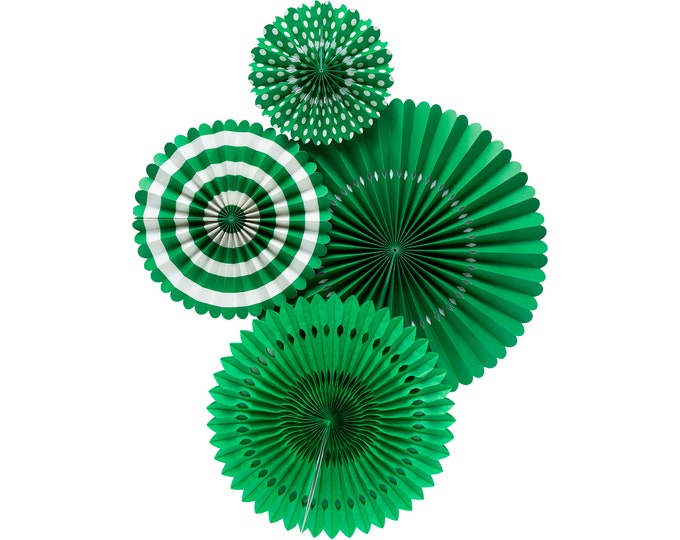 Pinwheel Backdrop Green, Green Pom Wheel, Green Rosettes, Green Paper Medallions, Green Paper Fans, Halloween decor, Christmas Decor