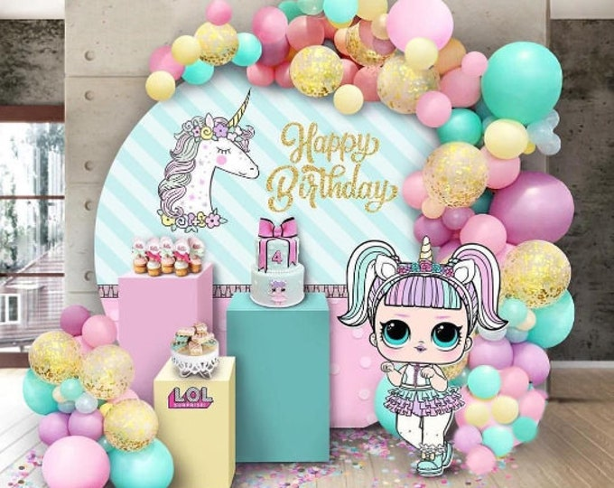 LOL Doll Balloons, Surprise  Arch Kit, Balloon Garland, Unicorn DIY Balloon Garland Kit, Organic Garland, Balloon Arch, Birthday Backdrop