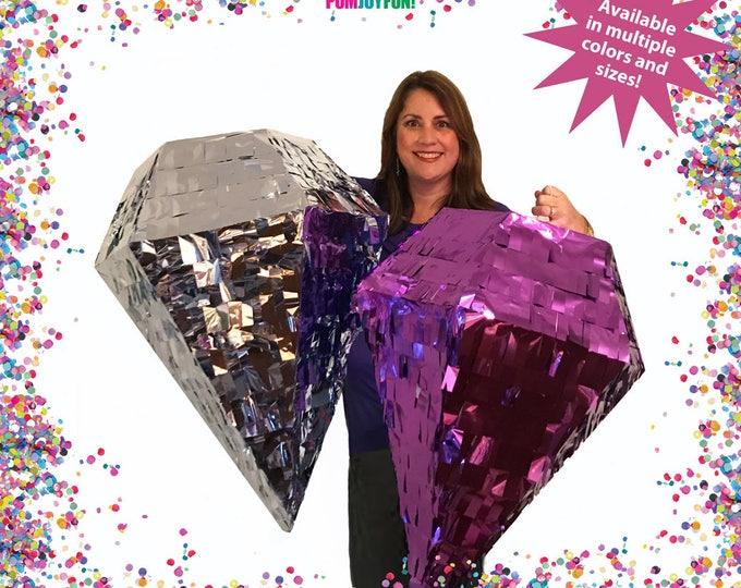 Giant Diamond Piñata, Custom Piñata, Pyramid Piñata, Octahedron Piñata, Wedding Piñata, Baby Shower Piñata, Huge Pinata