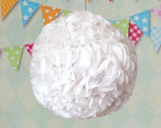 White Kissing Ball, Gender Reveal kissing ball, Flower Ball, Pomander, Kissing Ball, Wedding Piñata, Baby Shower Piñata, Piñata