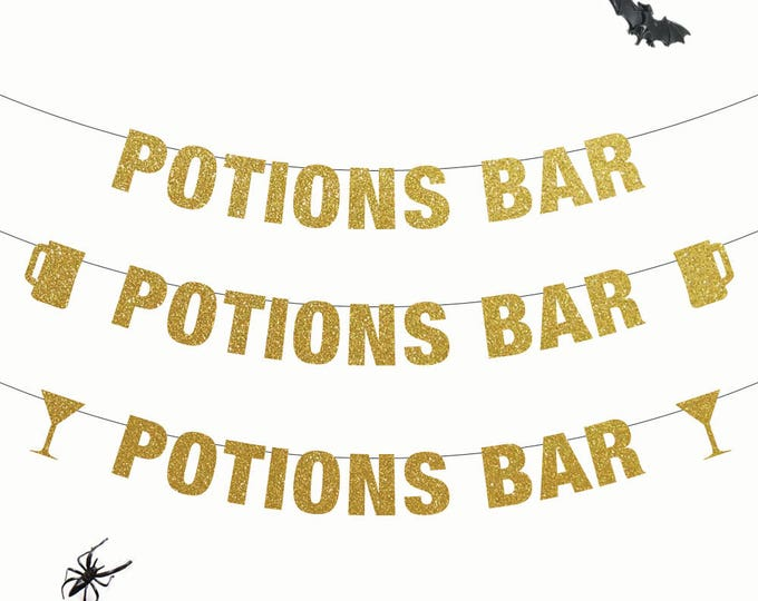 Potions Bar Banner, Halloween Party Banner, Halloween Party Decorations, Halloween Bar Banner, Halloween Party, Party Decor