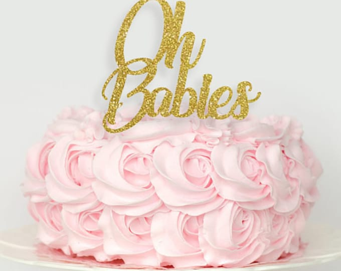 OH Baby Cake topper or Oh Babies Twins Cake Topper, Twins baby shower cake topper, oh baby cake topper, twin cake topper