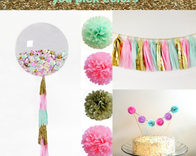 Birthday Party Decoration Packages, Party Kit, Shower Decoration for a Wedding,  Engagement Party Decorations, Pink Party Decorations
