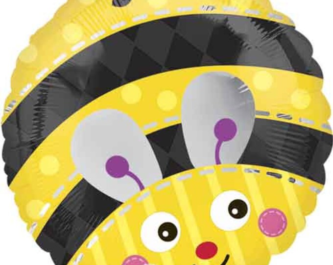 Bee Balloon, SALE, Bumble Bee Balloon, Dragon, Foil Bug Balloon What Will it Bee Gender Reveal, What Will it Bee?