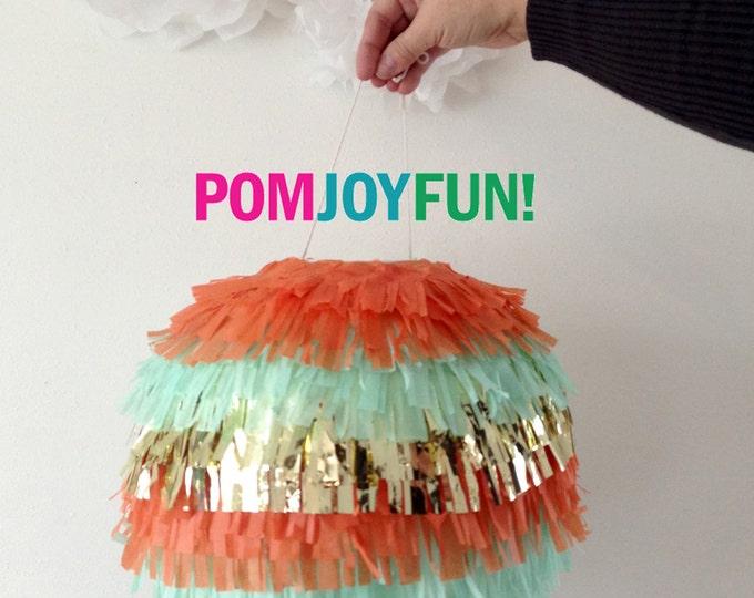 Piñata, Gender Reveal Fringe Piñata, Multi-Colored Birthday Piñata, Baby Shower Piñata, Fringe Wedding Pinata, Round Pinata