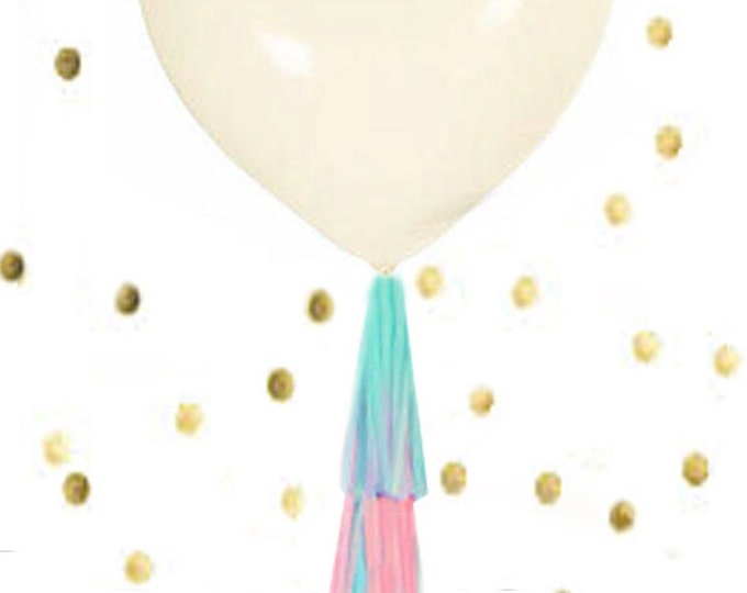 """Heart Balloon, Jumbo 36"""" Heart Balloon, Heart Balloon with or without tassels, Huge Latex Heart Wedding Balloon"""