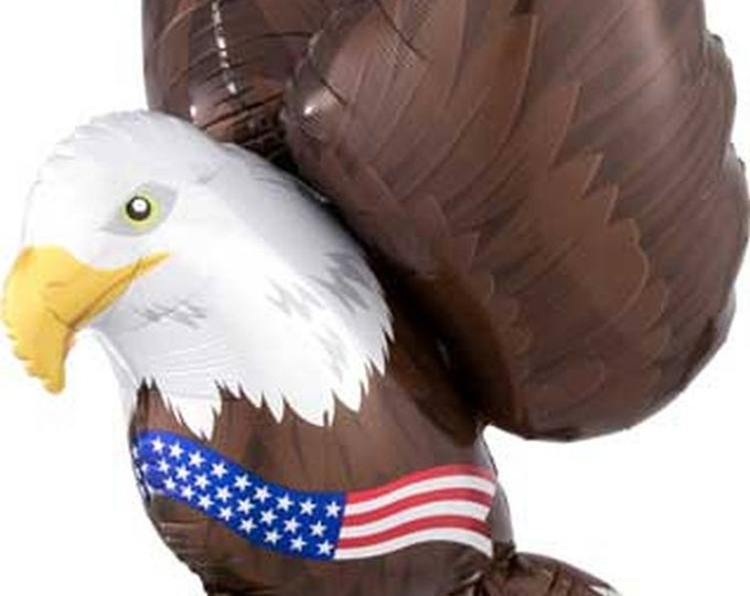 Eagle Balloon, Fourth of July Balloon, Independence Day Balloon ,Patriotic Shape Balloon Eagle and Flag