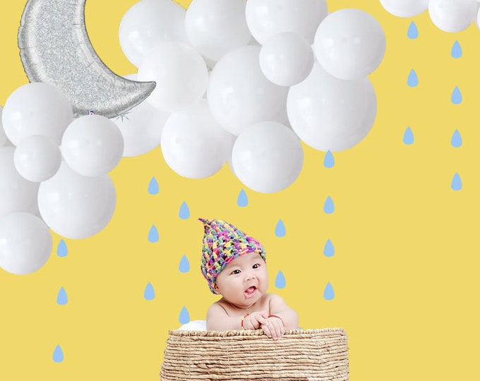 Cloud Balloon Kit, Floating Cloud Balloon Kit, Balloon Garland DIY, Cloud Balloon, Baby Shower Decorations, Weather Party, Rain Baby Shower