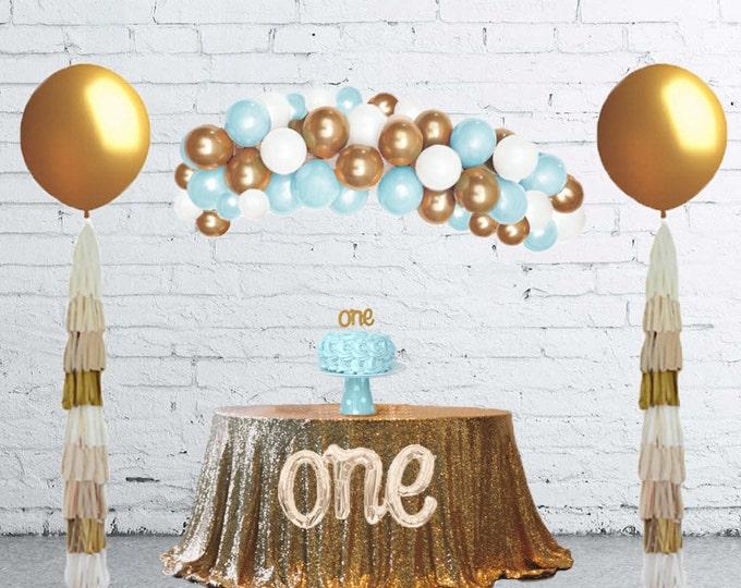 Balloon Arch Kit, Balloon Garland, DIY Balloon Garland Kit, organic balloon Garland, Balloon Arch, Balloon Backdrop, Blue Balloons