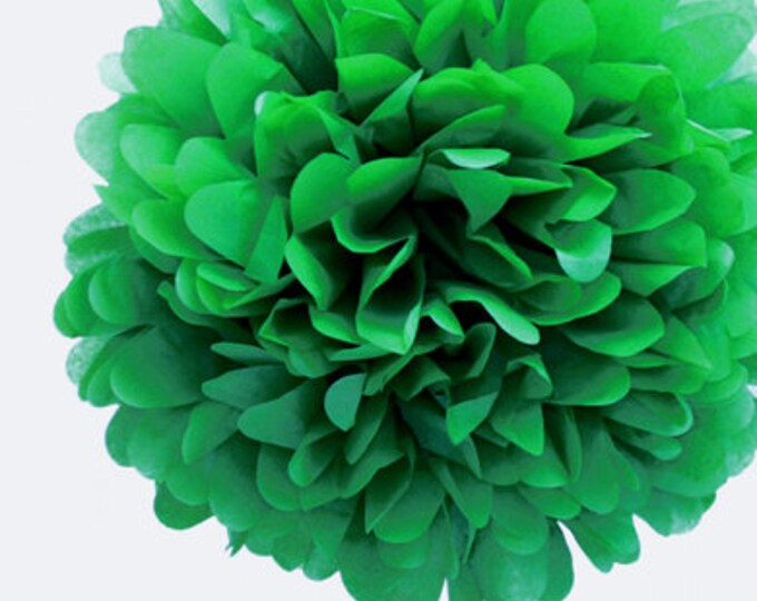 Kelly Green Tissue Paper Pom, Green Pom, Green Tissue Paper Pom Pom, Green Paper Flower, Tissue Flower, Wedding and Birthday Party Decor