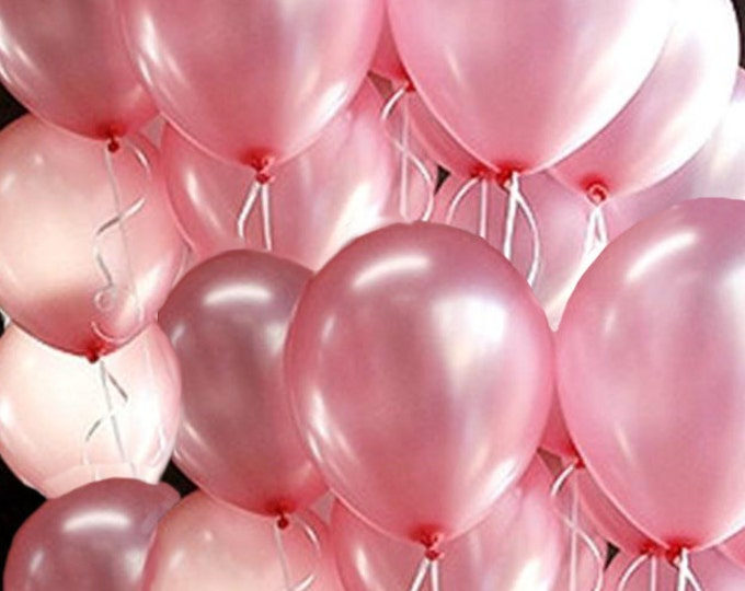 Pink Pearl  Balloon Set - 10+ Balloons Pick Your Quantity, Pearlized Pink Balloons, Pink and Gold Birthday