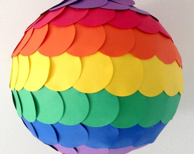 Rainbow Pinata, Rainbow Birthday Pinata, Pull String PInata, Rainbow Unicorn Party Pinata, Rainbow gender Reveal Pinata, Rainbow party decor