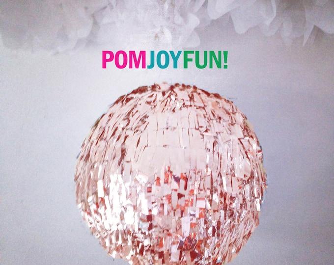 HUGE Rose Gold Gender Reveal Fringe Piñata, Gold Birthday Piñata, Baby Shower Piñata, Fringe Wedding Pinata, Guest Book Pinata