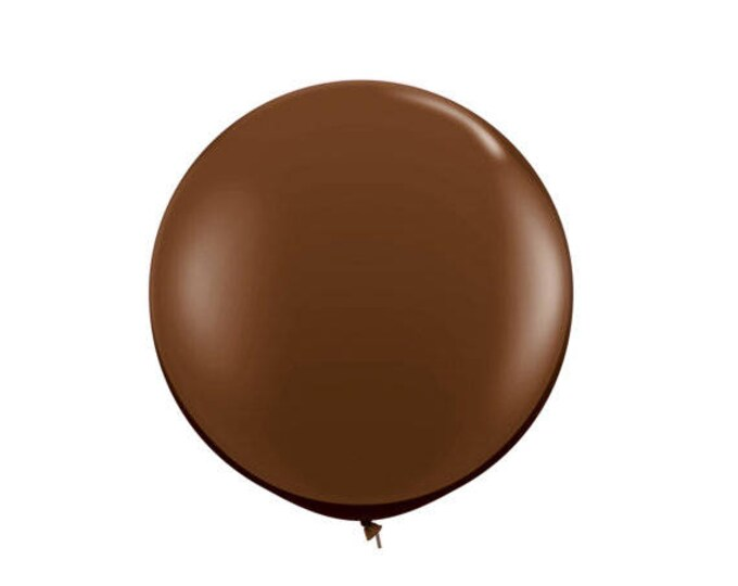 "Brown Balloon 36"" Round Latex Balloon, Brown Latex Balloons, Fall Party Balloon, Jungle Balloon, Camping balloon"