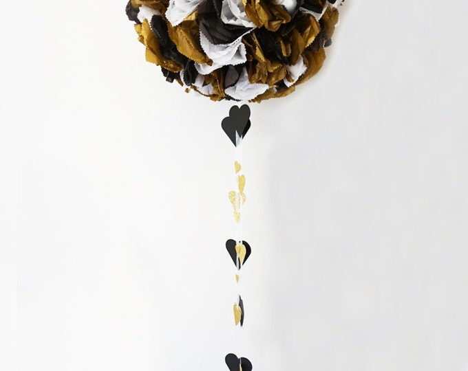 Graduation Formal Pinata, Gold, white &  black Piñata, Flower Ball, Kissing Ball, Pomander, Antique Gold, Birthday Pinata, Reveal