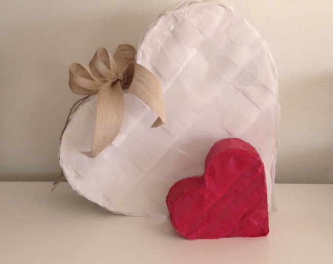 Heart Piñata, Gender Reveal Piñata, Pick Your Color, Wedding Piñata, Baby Shower Piñata, White Pinata