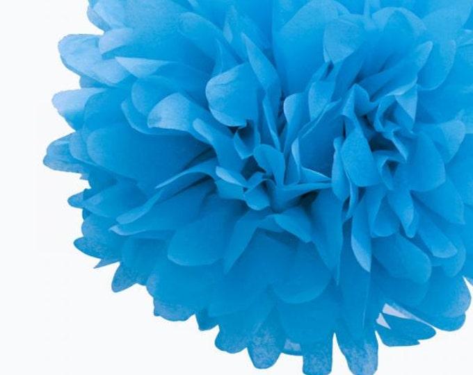 Turquoise Tissue Paper Pom, Turquoise Pom, Turquoise Tissue Paper Pom Pom, Turquoise Paper Flower, Tissue Flower, Wedding and Birthday Decor