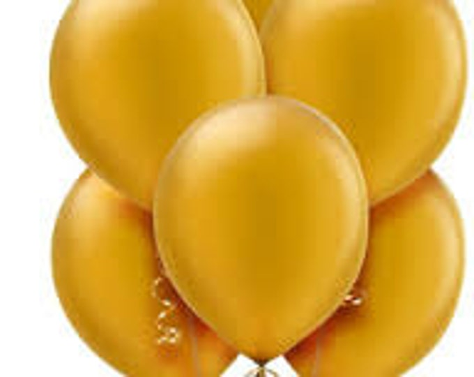 Gold Balloons, Gold wedding, First Birthday, Baby Shower Decorations, Twins, Bachelorette Decor, Gold Latex Balloons