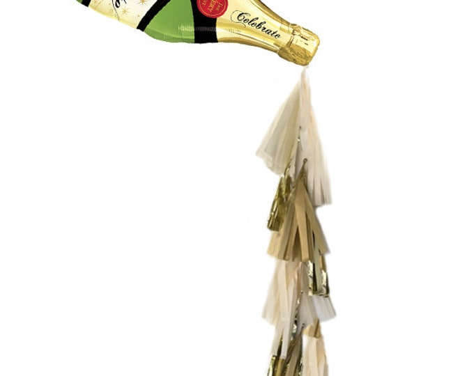 21st Birthday decorations, Champagne Balloon, Champagne Tassel Balloon, Champagne Backdrop, Pop Clink Fizz, New Years Eve Decor