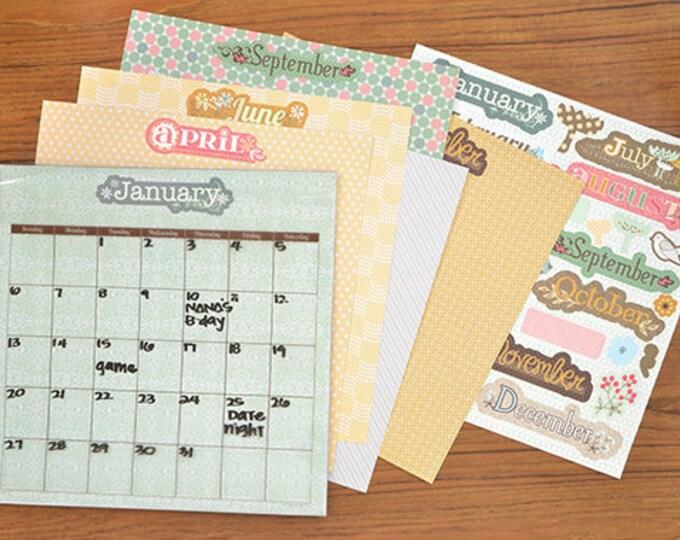 2019 calendar, Gift For Mom, Christmas Gift for Mom, Christmas Gift For Friend, Dry Erase Monthly Calendar Kit, Magnetic Calendar
