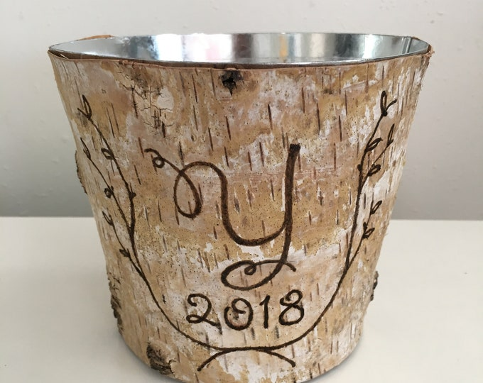 Personalized gift for her, Personalized gift for grandma, Personalized gift box, Personalized Party Decorations, Gift, Birch Bark Vase
