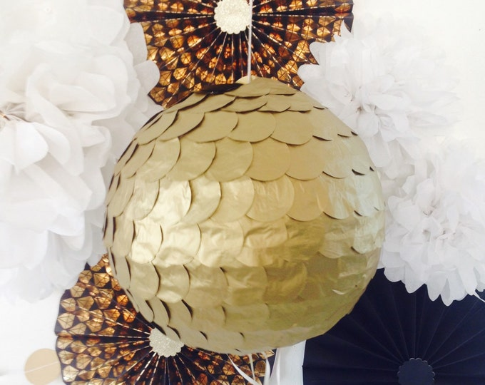 Antique Gold Wedding Piñata, Gold Gender Reveal Piñata, Gold Birthday Piñata, Gold Baby Shower Piñata, Gender Reveal Ideas