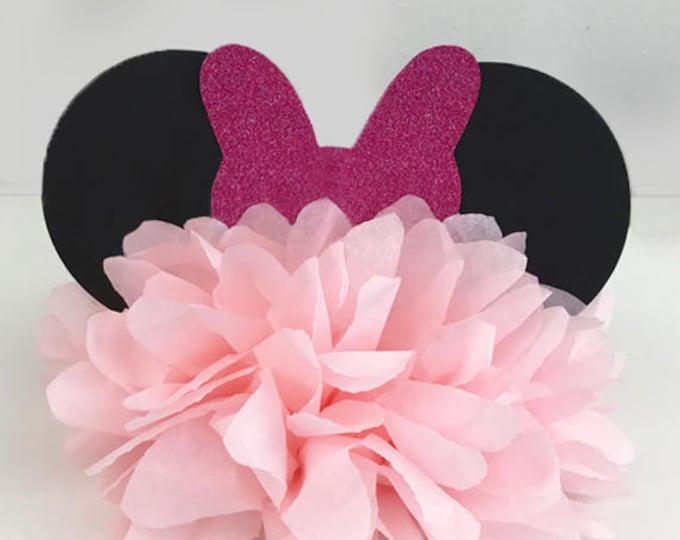 Minnie Mouse Birthday Party Decoration, Minnie Mouse Bow, Minnie Mouse Centerpiece, Mickey Mouse Birthday Decoration, Mickey Centerpiece