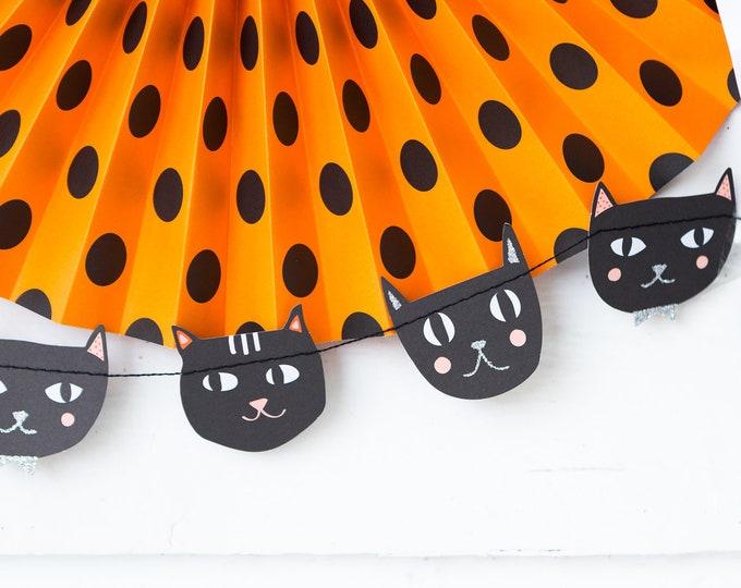 Black Cat Banner, Halloween Black Cat Banner, Halloween Party Decorations, Black Cat decor, Kitty Banner, Cat Banner, Black Cat Decor