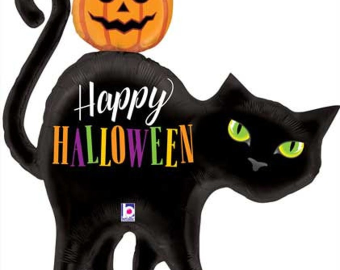 Black Cat Balloon, Halloween Balloon, Halloween Decorations, Halloween Party, Halloween Party Decorations, Cat Balloon