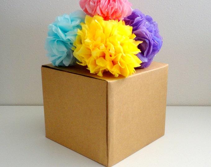 Mini poms, Miniature tissue paper pom poms, Bows for Gifts, Napkin Toppers, Mini Poms, Giftwrap, Small poms