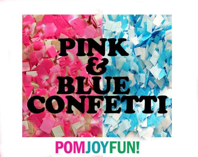 Pink and blue gender reveal confetti , Gender reveal ideas,  Custom Confetti , Gender Reveal Pinata Confetti