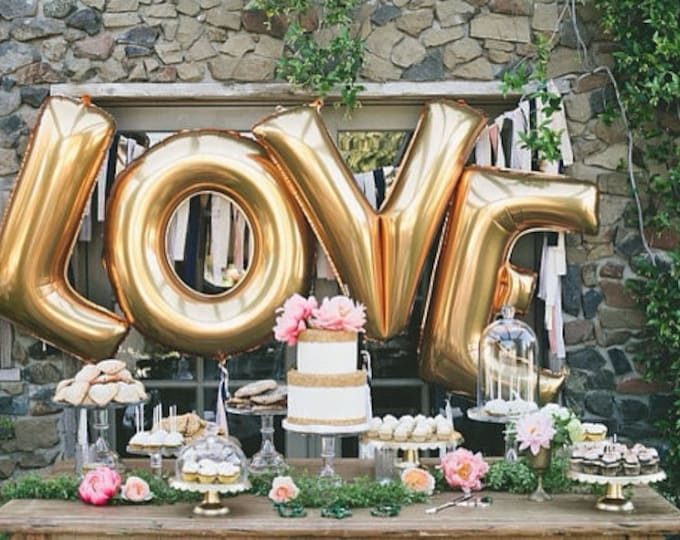 Love balloons USA huge, Gold, Silver Rose Gold Winter Wedding jumbo Letter Balloons 40 Inch LOVE Decorations Party i do, cheers, xo