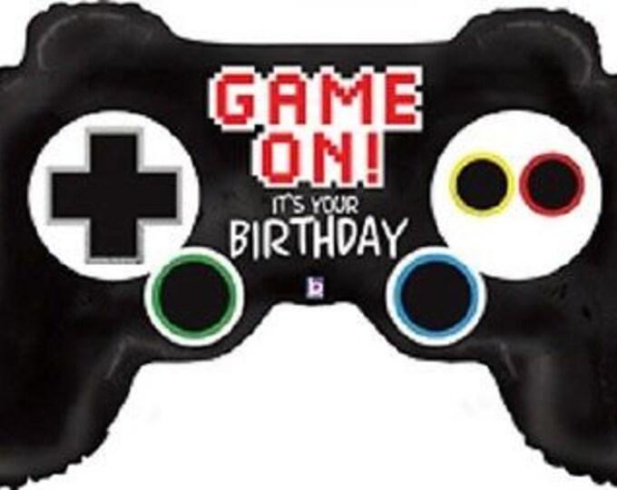 "Game Controller Balloon Jumbo Balloon 36"" Video Game Controller Birthday Balloon Xbox Playstation"