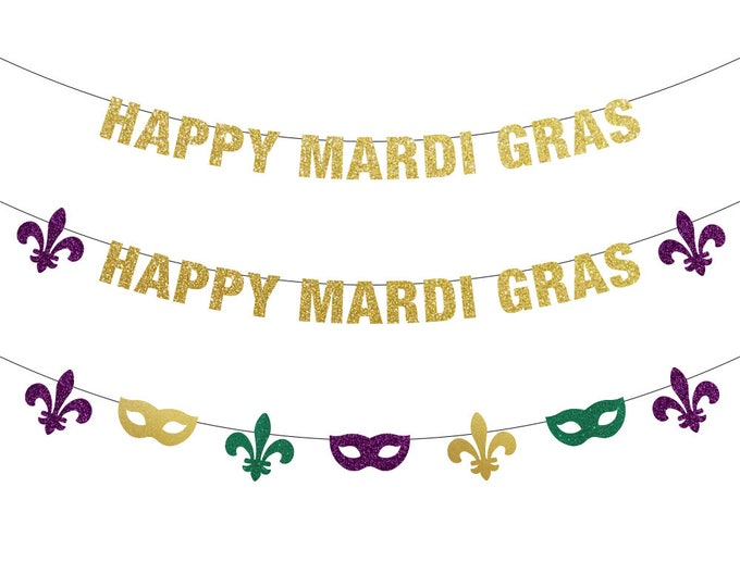 Happy Mardi Gras Banner, Mardi Gras Decorations, Mardi Gras Banner, Mardi Gras Bachelorette, Mardi Gras Backdrop, Fat Tuesday, Mardi Gras