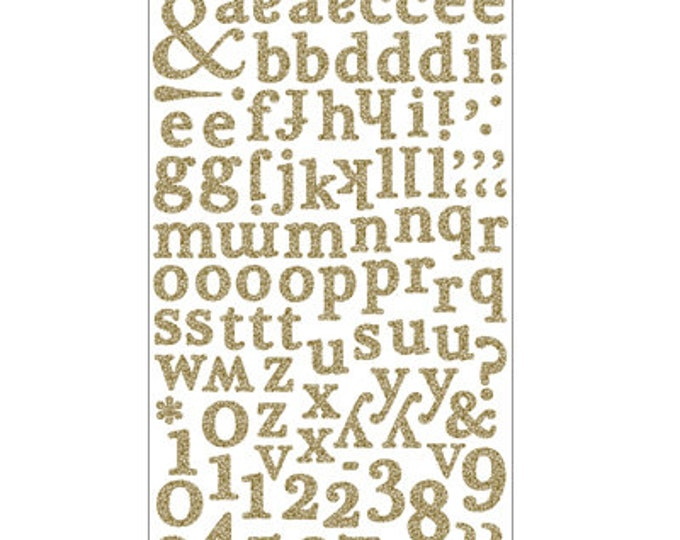 Glitter Stickers in Gold or Silver, Alphabet Glitter Number Stickers, Custom Stickers, Personalized Name< Stickers Pack, Sheet Planner Set