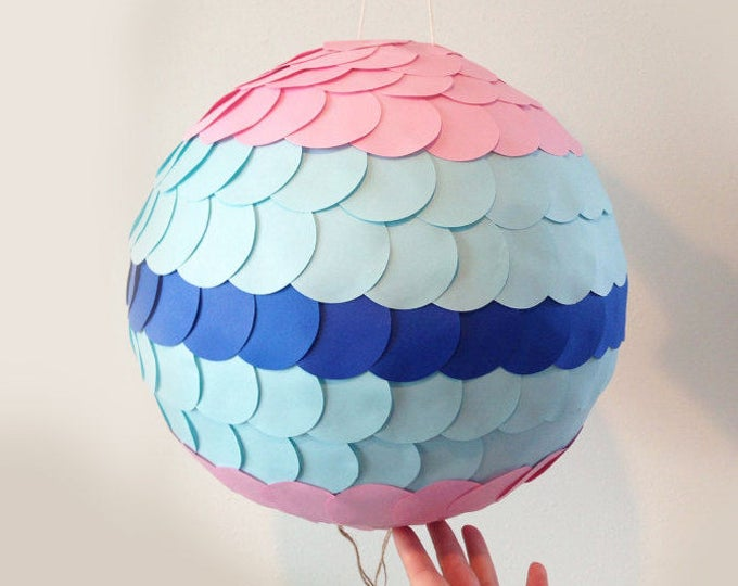 Gender Reveal Pinata pull string, Gender Reveal Pinata, Pink and blue pinata, Like a Gender Reveal Balloon!Pull String Pinata