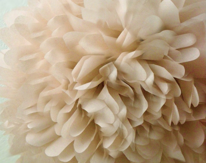 Khaki Tissue Paper Pom, Khaki Pom, Khaki Tissue Paper Pom Pom, Khaki Paper Flower, Tissue Flower, Wedding and Birthday Party Decor, Poms