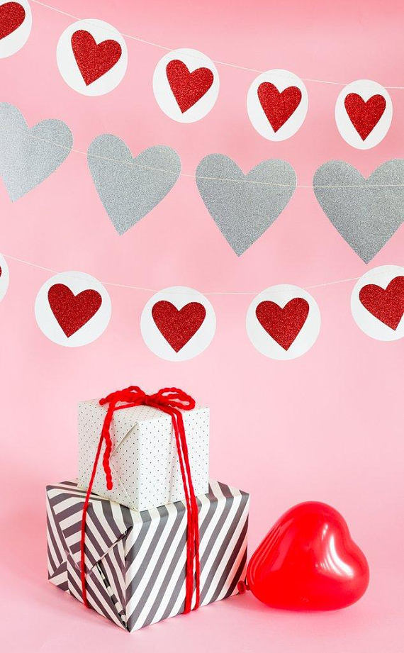 Valentines Gender Reveal Balloon Valentines Gender Reveal