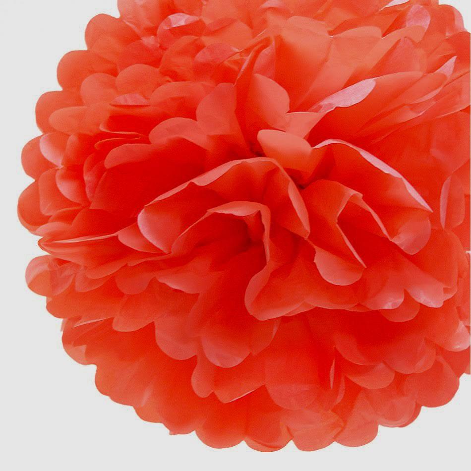Coral Orange Tissue Paper Pom Coral Pom Coral Tissue Paper Pom Pom