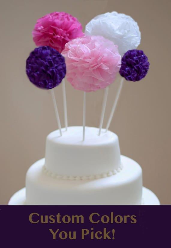 Pom Cake Topper Cake Topper For Birthday Cake Topper For Etsy