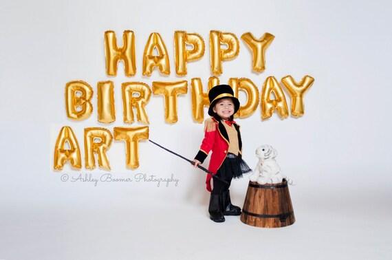 happy birthday balloons gold silver rose gold balloon banner