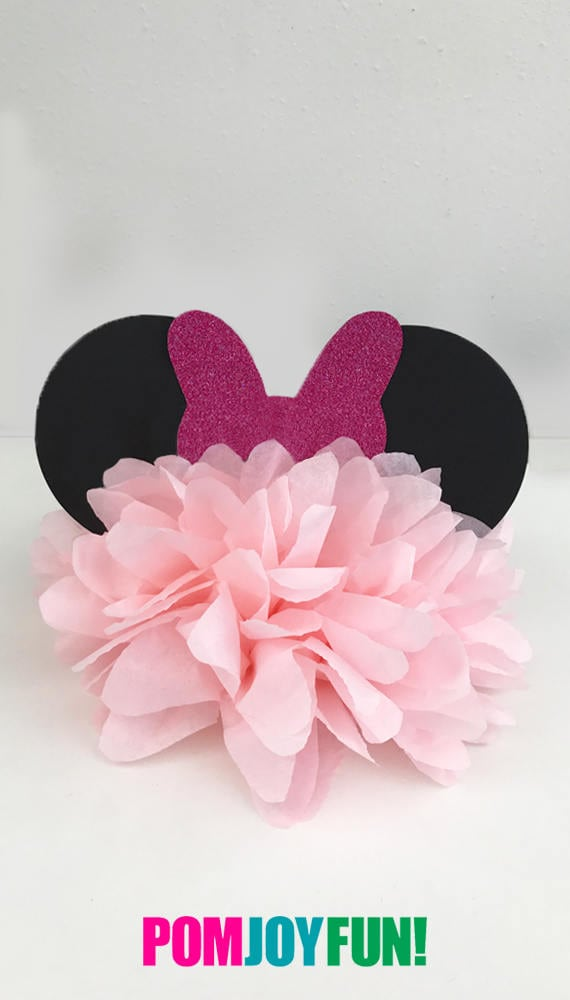 minnie mouse birthday party decoration minnie mouse bow minnie rh catchmyparty com Minnie Mouse Centerpieces Homemade Minnie Mouse Candy Table