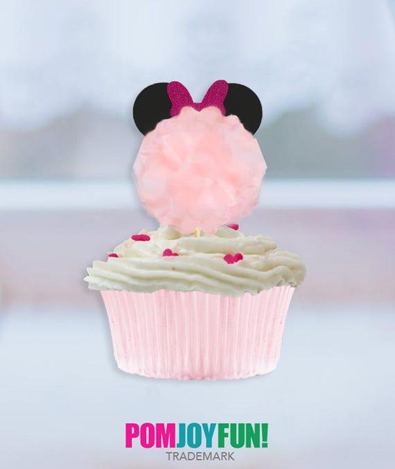 Minnie Mouse Pom Kuchendeckel Minnie Maus Kuchen Dekor Etsy