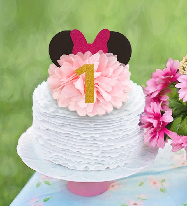 Minnie Mouse Birthday Decoration Cake Topper Centerpiece First Centerpieces