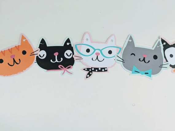 Kitty Banner Cat Birthday Party