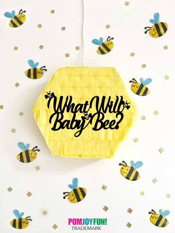 What Will Baby Bee Piñata Gender Reveal Pull String Piñata Baby