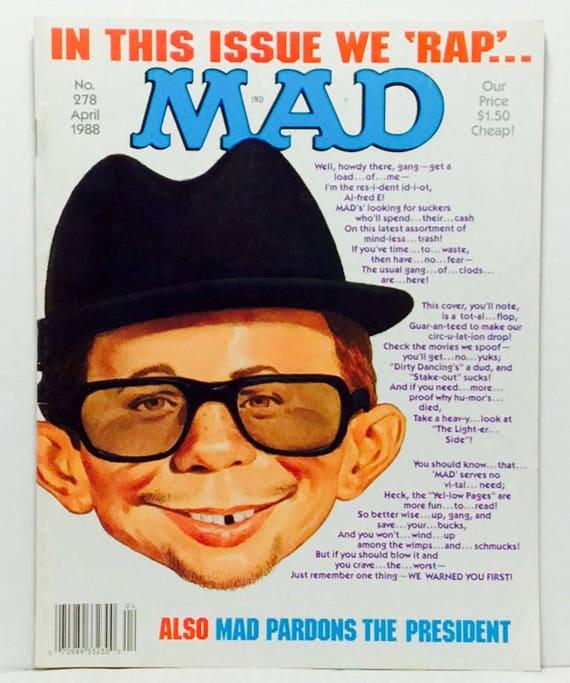Mad 278 Vintage Comedy Satire Magazine Etsy